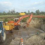 Graven in het grondwater